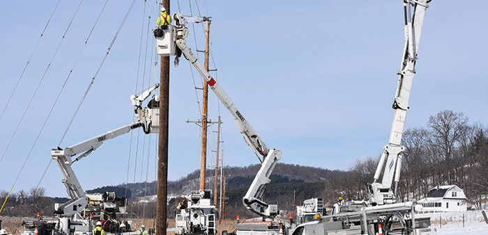 A typical careful day in the life of a lineworker